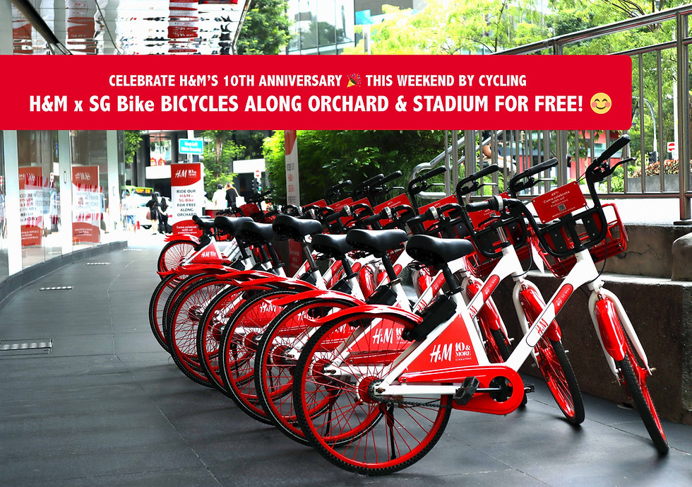 Celebrate H&M's 10th Anniversary with Free Rides on H&M x SG Bike Bicycles! (3 - 5 September)