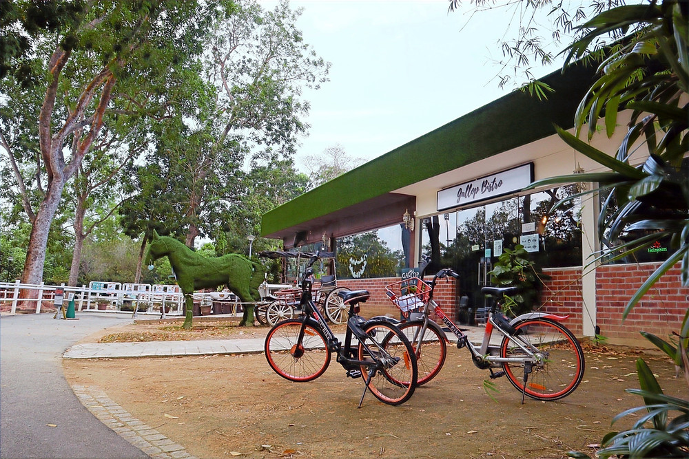 Front view of the Gallop Bistro at Pasir Ris Park
