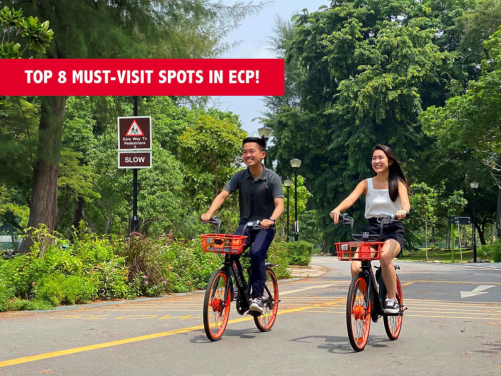 Two people cycling at ECP