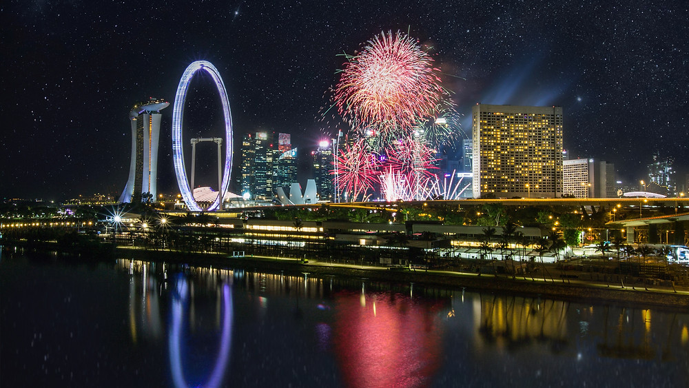 Fireworks display on National Day 2021
