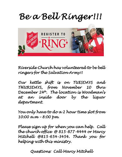 Bell Ringers - Salvation Army 2020 Sign