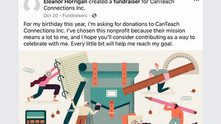 Successful Facebook Fundraiser for CanTeach