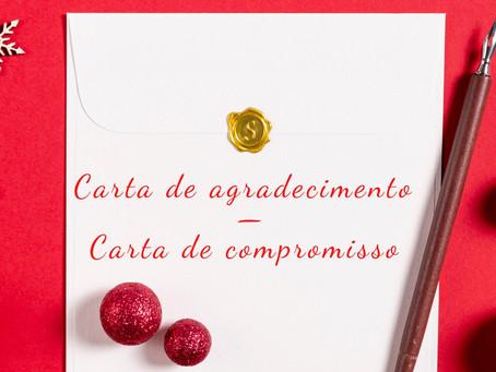 Carta de agradecimento - carta de compromisso