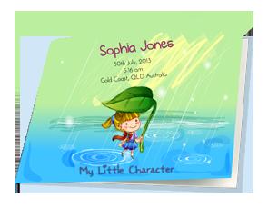 """Raindrops"" Hardcover Book"