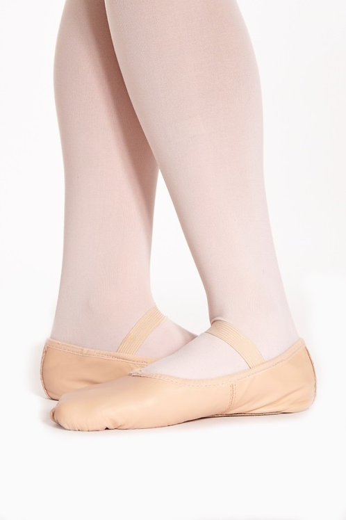 Pink Leather Ballet Shoes with elastic
