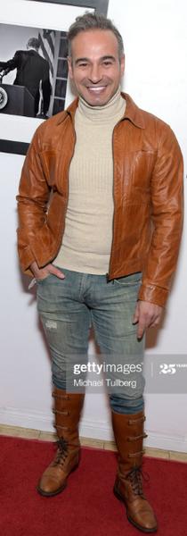 Jorge in Leather Jacket by Jorge A/W2016
