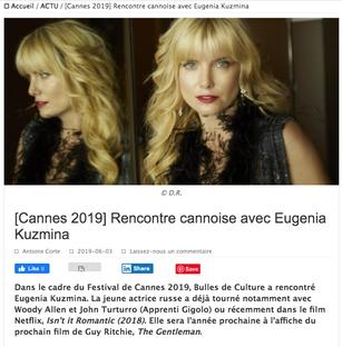 French Interview with Eugenia Kuzmina