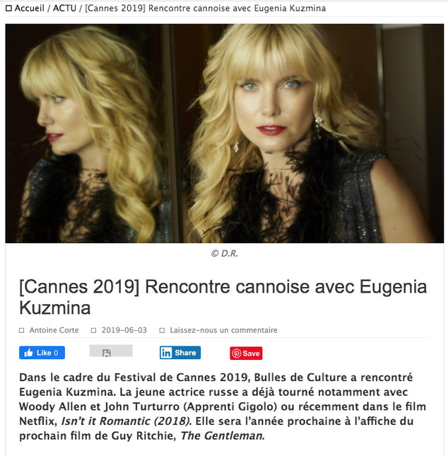 French Interview with Eugenia Kuzmina