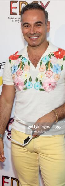 Jorge on his shirt S/S2020