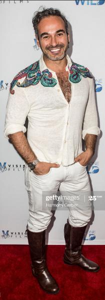 Jorge on his shirt S/S2019