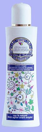 Lotion visage soigne l'acné, diminue les rides. 100 % naturel. Le Dru de Todesco.