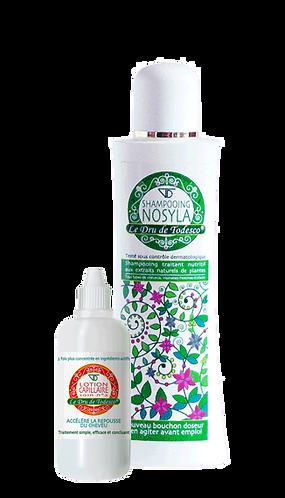 Lotion capillaire 125 ml (soin n°2) + shampooing Nosyla 400 ml.