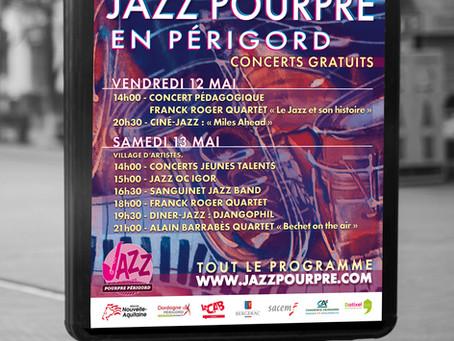 Festival Jazz Pourpre  🍁  en Périgord 2017