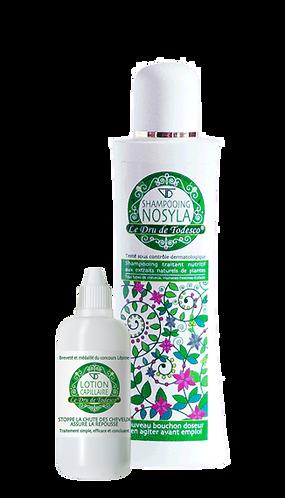 1 lotion capillaire (soin n°1) 125 ml + 1 shampooing 400 ml