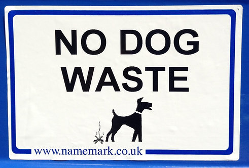 A4 No Dog Waste Stickers