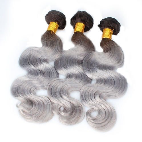 High Ombre Gray Body Wave