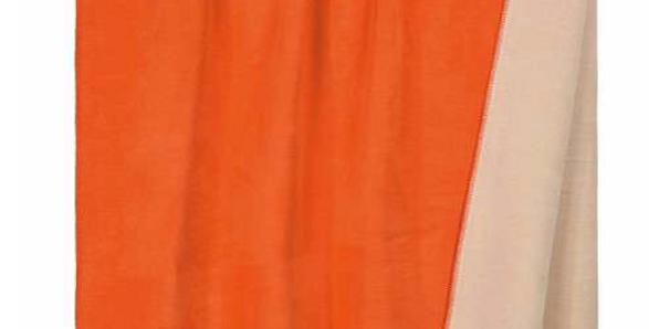 Kuschelige hochwertige Decke - orange/beige