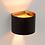 Thumbnail: Formschöne Wandleuchte in weiss oder schwarz/gold