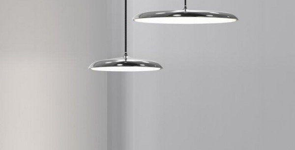 Pendelleuchte in schwarz, grau, kupfer oder chrom - 25cm