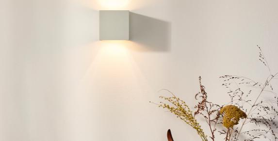 Quadratische Wandleuchte - Lichtkegel verstellbar