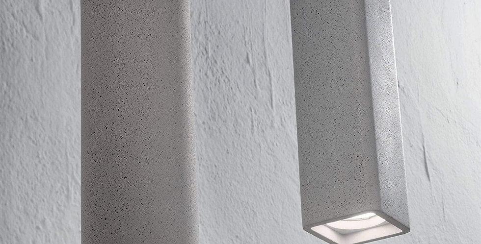 Gipspendelleuchte in grau oder weiss - eckig oder rund