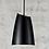 Thumbnail: Stylische Pendelleuchte im matt schwarz