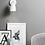 Thumbnail: Schlichte und schöne Wandleuchte in weiss, schwarz, geb. Stahl