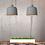 Thumbnail: Pendelleuchte in weiss oder grau mit Holzansatz