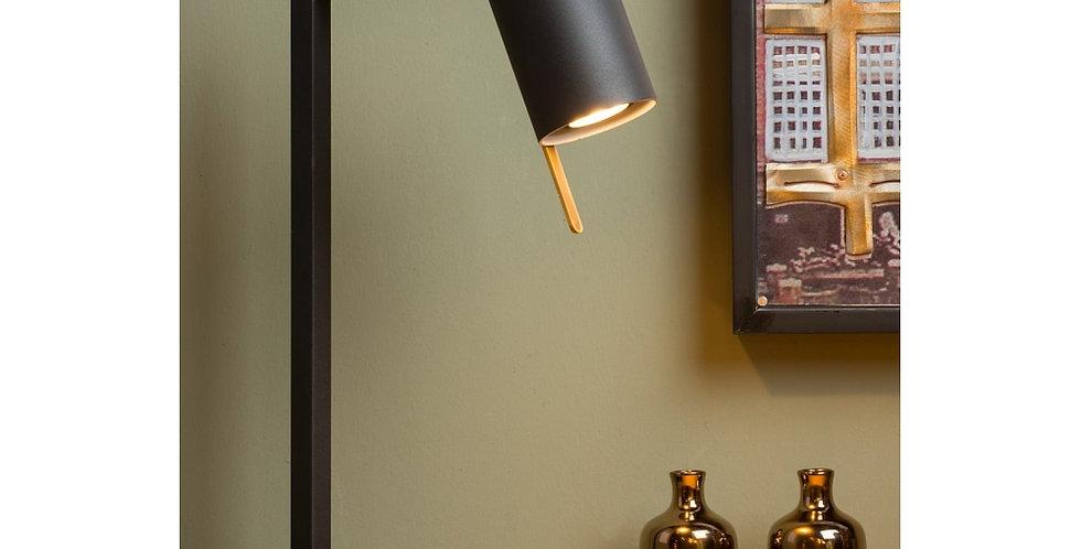 Schwarze Tischleuchte mit klarem Design