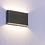 Thumbnail: Schmale Wandleuchte in weiss oder schwarz