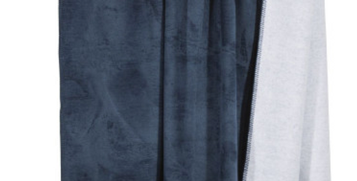 Kuschelige hochwertige Decke - blau