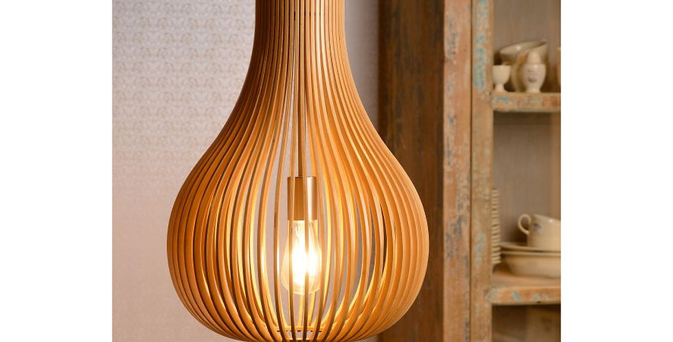 Stilvolle Pendelleuchte aus Holz