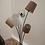 Thumbnail: Wohnliche Bogenleuchte mit 5 Schirmen in beige/braun