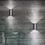 Thumbnail: Moderne Wandleuchte in chrom, weiss oder schwarz
