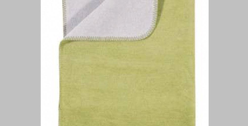 Kuschelige hochwertige Decke - hellgrün/hellgrau