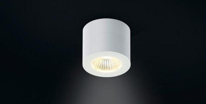 Runder LED Deckenaufbauspot (mit Spritzwasserschutz)
