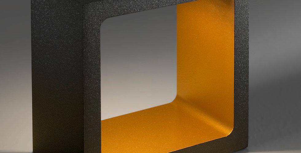 Indirekte Tischleuchte in schwarz gold