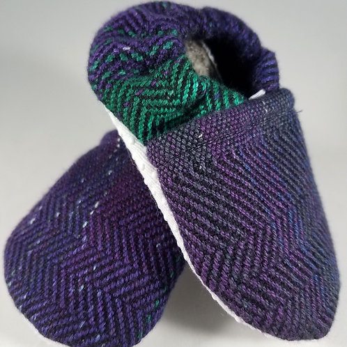 6-9 mo. Booties - Tightrope Textiles Fancy Party (#2369)