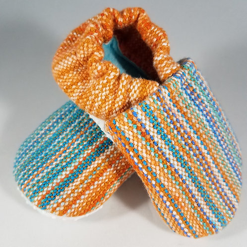 6-9 mo. Booties - Tightrope Textiles Orange Crush (#2365)