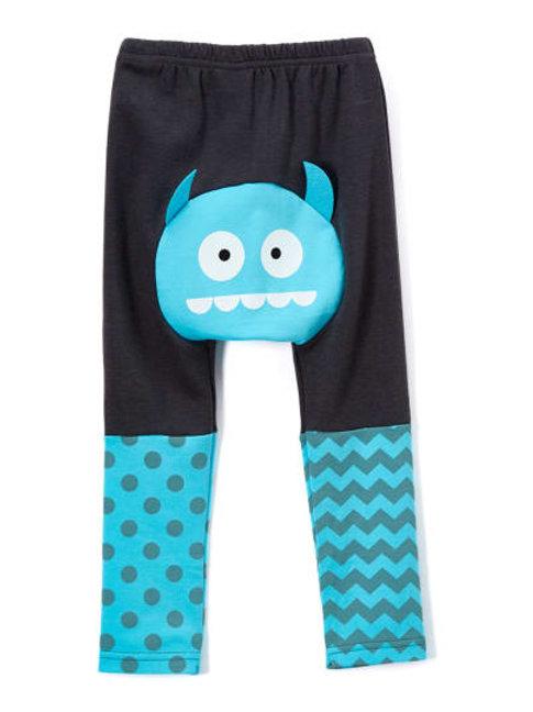 Doodle Pants Blue Monster (Ccotton Jersey)
