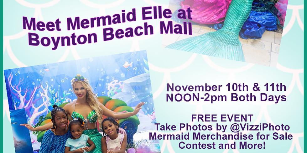 Mermaid Elle at Boynton Beach Mall