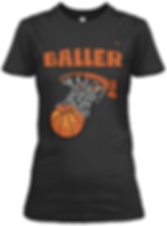 Baller black and tan  fitted tee.png