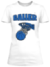 Baller white blue  fitted tee.png