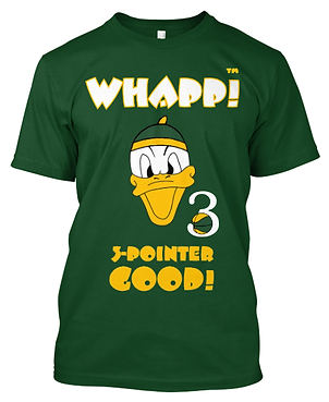 Custom Whapp! 3-Point Shot Duck T-Shirt