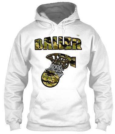 Baller Basketball Camoflauge Hoodie