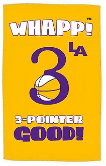 Custom Whapp! 3-Point Shot Laker Rally Towel