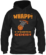 Whapp! 3-point shot tan and brown hoodie