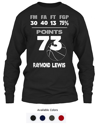 Raymond Lewis 73-Point T-shirt Long Slee