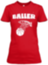 Baller Red  fitted tee.png