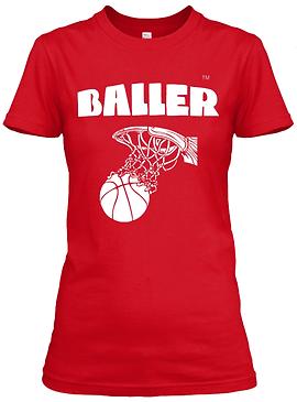 Women's Baller Basketball Fitted Tee